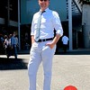 Photo by Lily Ko<br /> <br /> In This Scene:  Erik Bidenkap, getting some sun and looking fantastic.  Bidenkap is wearing light blue linen pants from J Crew, a crisp white shirt from Hugo Boss,  chambray tie from Banana Republic, and sunglasses by Burberry. With weather like this, you really can't be afraid to wear light colors.