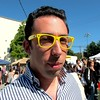 Photo by Lily Ko<br /> <br /> In This Scene:  See and be seen. I'm loving Michael Phillips Moskowitz in his yellow Ray-Ban frames. His shirt is by Gytha Mander, his now discontinued clothing line.
