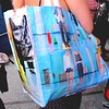 Photo by Lily Ko<br /> <br /> In This Scene:  Spotted--Maison Martin Margiela  tote! This is the first one I've seen actually and I think it's just really fun. These plastic coated MM6 totes were special limited editions given out with purchase.