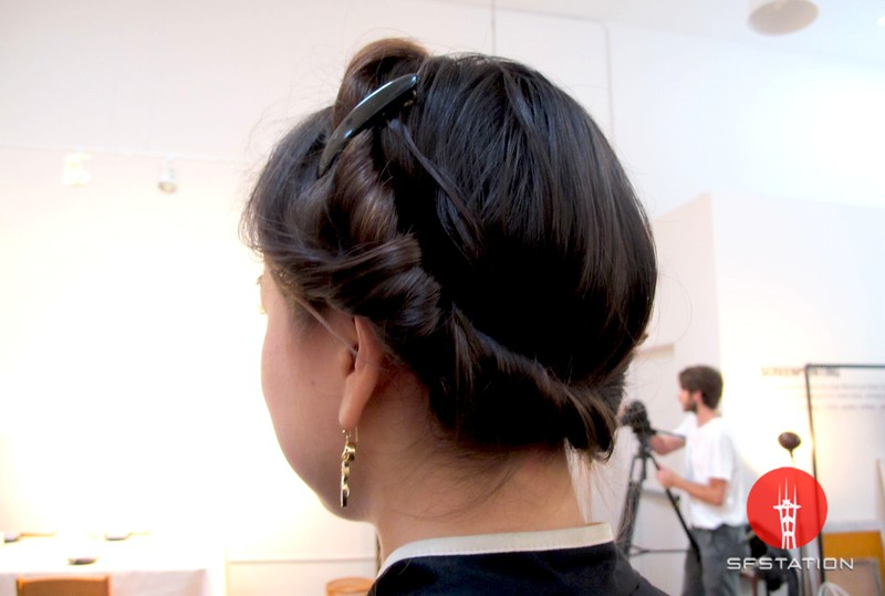Photo by Lily Ko<br /> <br /> In This Scene:  Aya Brackett's lovely twirled updo. I just love this look--such a soft, beautiful hairstyle.
