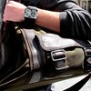 Photo by Lily Ko<br /> <br /> In This Scene:  Kela Hugo's mad accessories. Hugo's borderline overnight bag is by Banana Republic, and his watch is from Diesel. I love a good oversized bag, and every man should have a cool watch that they love.