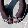 Photo by Lily Ko<br /> <br /> In This Scene:  Saraphim Sill's fun, youthful jelly sandals that she found at shop in Ohio. Jellies are coming back, guys.