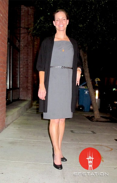 Photo by Lily Ko<br /> <br /> In This Scene:  Tracy Potter Gomez, looking fabulous after a great dinner at Cotogna in Jackson Square. This outfit is very classic, but well one. Surprisingly, I haven't really seen a half-sleeved cashmere sweater like this, but what a versatile must-have!
