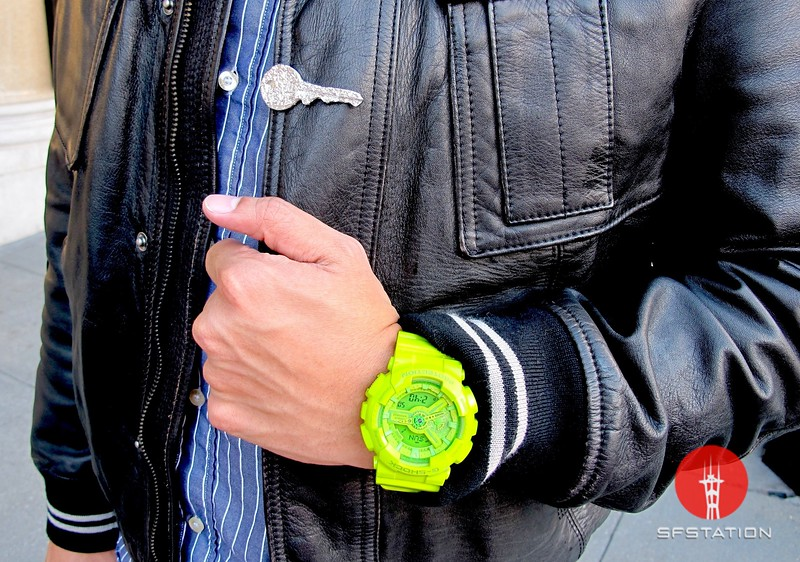 Photo by Lily Ko<br /> <br /> In This Scene:  Nurse Edric Chew may wear scrubs during work, but on his off hours he loves to accessories. Here he's sporting a neon G-Shock watch and a limited edition foil key clip by Maison Martin Margiela.