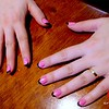 Photo by Lily Ko<br /> <br /> In This Scene:  I caught Josey while he was brunching at the table next to me at Nopa. I noticed her nails and, of course, had to get a photo! These pink with black French-tip, beauties were done at Juicy Nails on Nob Hill.