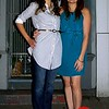 Photo by Lily Ko<br /> <br /> In This Scene: Sisters, Sarah and Rebecca Chandler, showing two day-to-night looks. Sarah pairs her Turk & Taylor shirt-dress nicely with a gold belt. Slacks during the day and then switching into jeans  would make this a great day-to-night outfit. On the other hand, Rebecca's teal dress, from Banana Republic, could also go from day-to-night with a nice cardigan or cropped jacket.