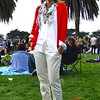 Photo by Lily Ko <br /> <br /> In This Scene: Meagan Herfkens looks effortlessly preppy-chic in this well layered ensemble. The collar, peeking out from behind her scarf, brings a subtle laid-back detail to this outfit. Herfkens is wearing Old Navy khakis, a white button down from Forever 21 and a J Crew cardigan.