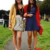 Photo by Lily Ko<br /> <br /> In This Scene: Taylor Davies and Hailey Tully, rocking their matching Ray-Ban aviators and long cardigans, at Oysterfest 2010. Long cardigans look best when you wear something with a defined high waistline, like these ladies have done. Davies is in a skirt and cardigan from Anthropologie and Steven Madden sandals. Tully is wearing a Tory Burch cardigan, dress from Urban Outfitters and Target shoes.