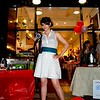 Photo by Lily Ko<br /> <br /> In This Scene: Photographer Alexa Trevino at the Artillery AG 1 Year Anniversario party. She supported the boutique by wearing a belt and a Cheme dress that was purchased at Artillery.  A sheer cotton dress like this one is a summer essential for both cocktail parties and lounging in the park. Her yellow peep-toe pump are from Aldo.