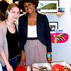 Photo by Lily Ko<br /> <br /> In This Scene: Shakirah Simley (right), owner of Slow Jams. Her tasty treats were a big hit at the Artillery 1 Year Anniversario party. It's nice to see food vendors dress for the occasion, too. Her outfit is a mix of NYC thrifted goods and jewelry she received as gifts. Her equestrian cut, single-button blazer is a great fit on her. With this type of jacket, the single button should hit at the smallest part of your waist, which fall in line with the waistband on her skirt--perfection.