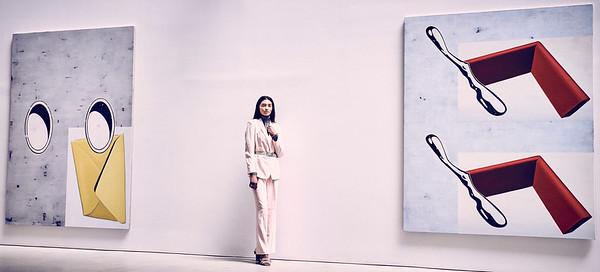 June  24-, 2017- New York, NY - Chelsea area gallery shoot with Major Models  Photographer: Robert Altman Wardrobe/Creative Director: Lauren Mahal / ASJ Mahal HMUA: Jesse Genoa  Modela: Shaanti Chaitram , Juliana Abrad  Credit: Robert Altman