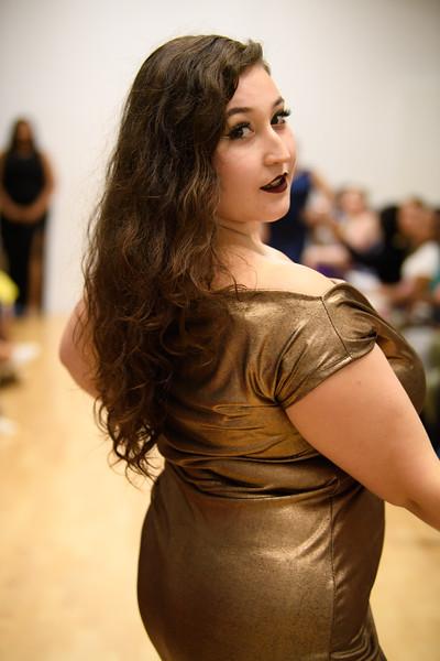 Elah Seidel - Naomi Off Shoulder Metallic Wiggle Dress