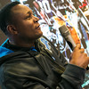 NFL Hall of Fame running back, Barry Sanders chats with NFL fans at Nike's NFL retail launch in Shanghai