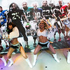 Fans were treated to a special performance by the Oakland Raiderettes.  The Oakland Raiders are one of the NFL teams featured in Nike's 2012 NFL retail launch.