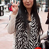 Photo by Tessa Morris<br /> <br /> In this scene: I love the straight-cut bangs, zebra print scarf, and exciting personality!