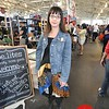 Photo by Monica Hom<br /> <br /> Karen does her shopping in craft fairs. Her dress is made from recycled materials by The Window Lady on Etsy.
