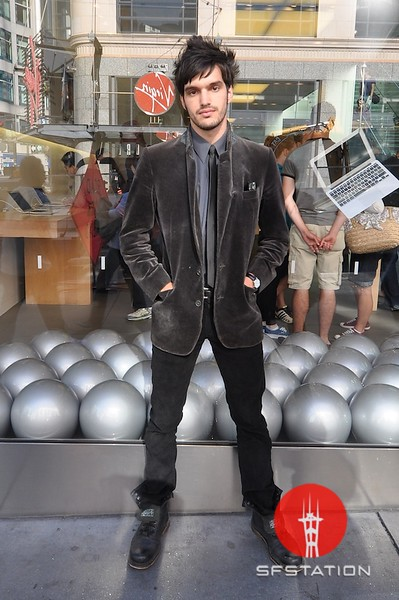 Photo by Monica Hom<br /> <br /> John wears a suede blazer with combat boots. He often accessorizes his outfits with suspenders.