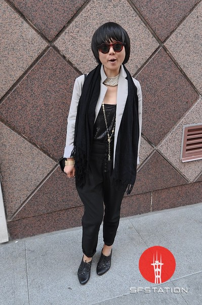 Photo by Monica Hom<br /> <br /> Alex's favorite shop is Nida in Hayes Valley. Her sunglasses are from Japan.