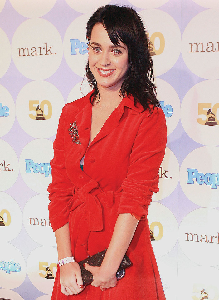 Recording Artist Katie Perry arrives at the People  magazine annual Grammy Awards announcements kick off party at The Avalon,  December 6, 2007, in Los Angeles, California. (Photo by Katy Winn/ Corbis) Email Me