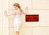 RIKKY--Silver 3pc  Ensemble--Illusion Lace Blouse  Silk Brocade Skirt--Back   Royal Palm Place Placard 65