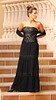 SOPHIE--Black Crinkled Silk Chiffon--Beaded Durndles-Drop-waist Bodice--33