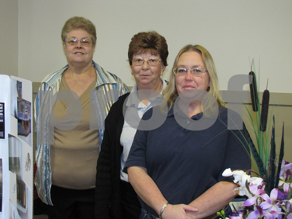 Ginny Settell, Marilyn Hanson, and Teresa Carter representing the Webster County Fairgrounds.