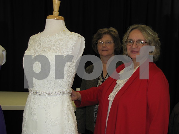 Julie Traster and Elaine Echelburger of Elaine's Bridal.