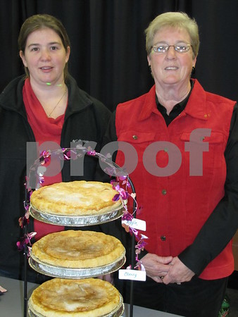 Jody and Bev Jackson with some of their homemade pies.