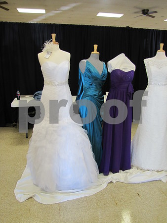 Gowns and dresses from Elaine's Bridal.