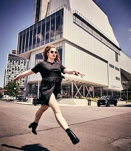 July 16-, 2017- New York, NY - Whitney Museum editorial New York, NY  Photographer: Robert Altman Wardrobe/Creative Director: Nichole Williamson Model: Larissa Baseman ( of We Speak NY Modeling)  Dress- Zara Earings- Aldo  Credit: Robert Altman