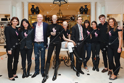 2010 Ralph Lauren Pink Pony - Chadstone - Angela Serafin with the store manager and staff at Ralph Lauren Chadstone
