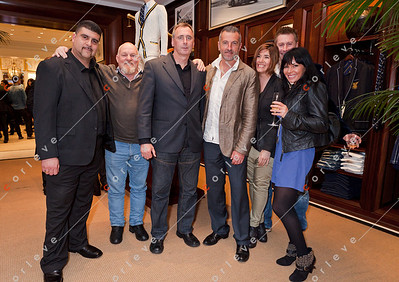 2010 Ralph Lauren Melbourne Spring Racing Carnival Launch - Rob, Jim, Dragan, Russell and Evita
