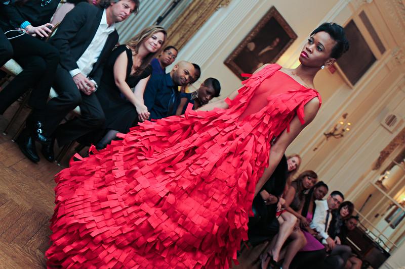 Ean Williams' Corjor International runway show at the Washington Club during DC Fashion Week.  Wednesday, February 22, 2012. Photos by Leah L. Jones