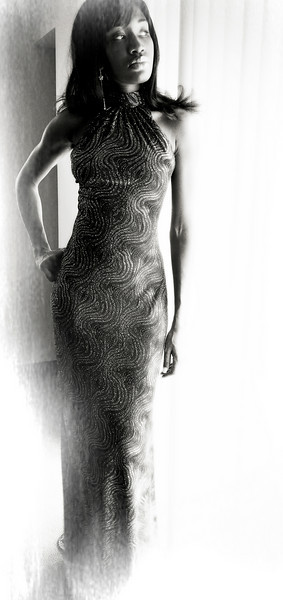 Evening Gown BW soft Frame