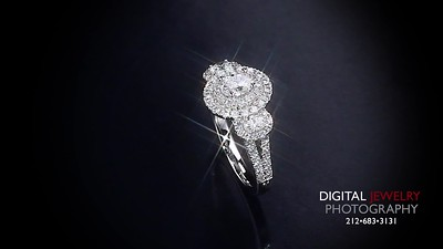 3 Stone Diamond Halo Ring Flyover 07