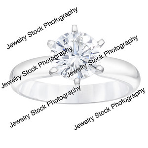 1 5ct Round Diamond Solitaire Ring 6 Prong Standing
