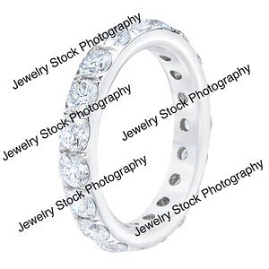 3ct Diamond Eternity Wedding Band Ring Turned