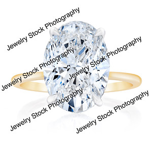5ct Oval Diamond Ring Front