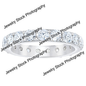 3ct Diamond Eternity Wedding Band Ring Standing