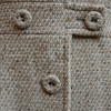 Tightly woven Vintage Italian beige coat