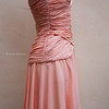 Vintage Italian Peach satin dress