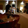Serving wine in Florence, Itay