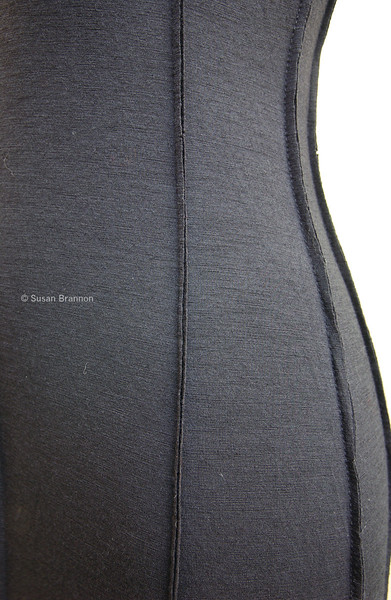 Close up Black ribboned Italian Vintage dress