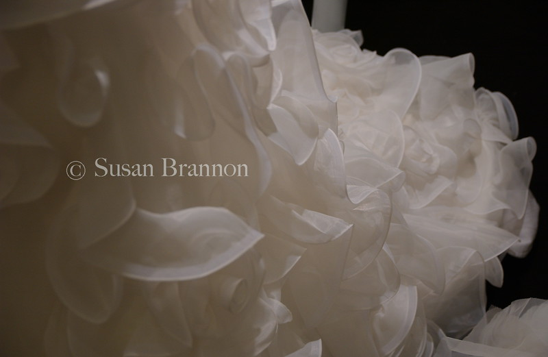 White ribbon wedding dress Florence, Italy