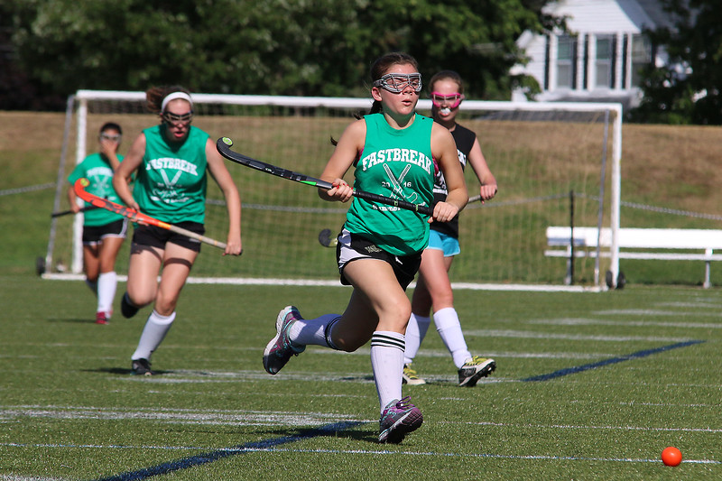 Nashoba player McKenna Hannigan, in green,chases down the ball during their match up with Oakmont on Tuesday afternoon at Doyle Field in Leominster. SENTINEL & ENTERPRISE/JOHN LOVE