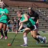 Nashoba player McKenna Hanniogan controls the ball as she rushes down field during their match up with Oakmont on Tuesday afternoon at Doyle Field in Leominster. SENTINEL & ENTERPRISE/JOHN LOVE