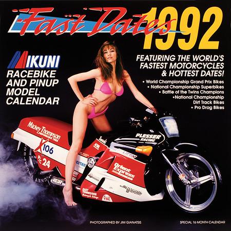 1992 Fast Dates Racebike PinUp Calendar