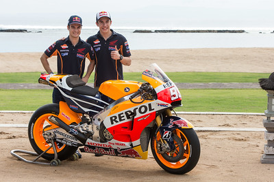 Dani Pedrosa and Marc Marquez 2015 Honda MotoGP Team