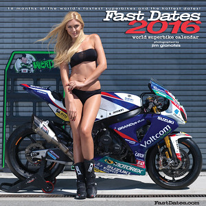 2016 Fast Dates World Superbike Calendar Cover
