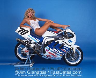 "Yoshimura Suzuki """"Big Papa"" GSXR1100 Formual Extreme bike with Pamela Anderson"